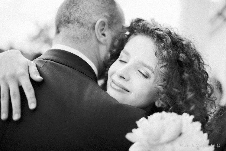 emotional black and white wedding photography