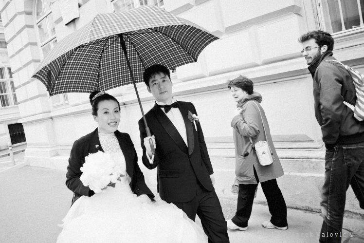 black and white wedding photography Vienna Chinese wedding