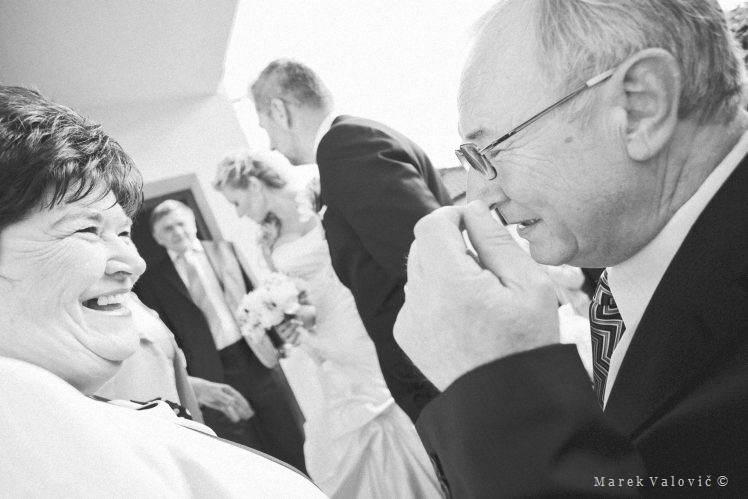emotional black and white wedding photography congratulation
