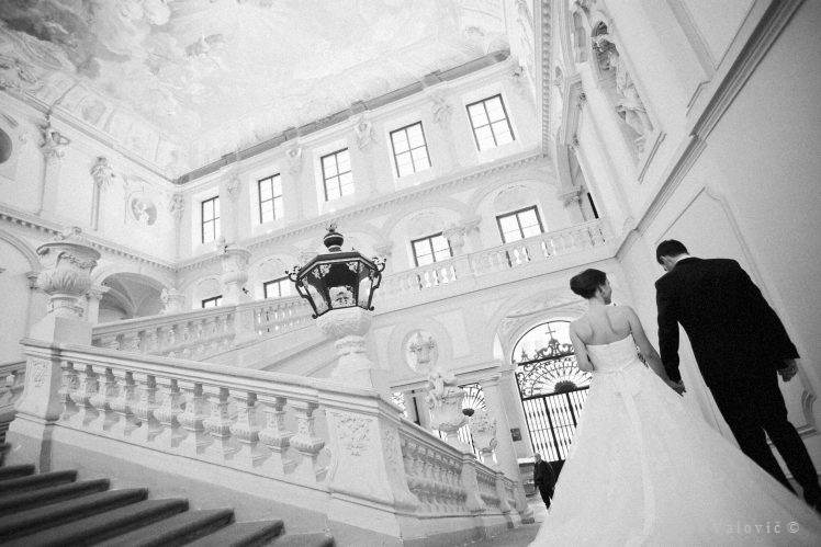 black & white wedding Stift Gottweig