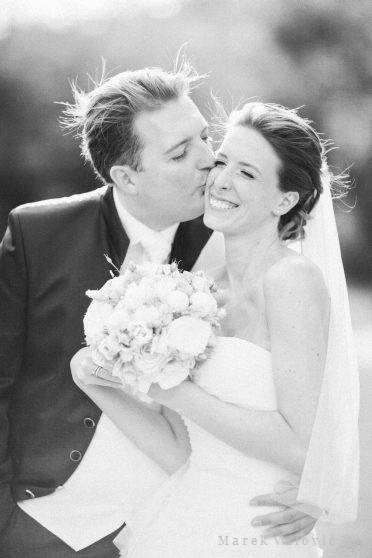 black & white wedding photography kiss - natural fine art