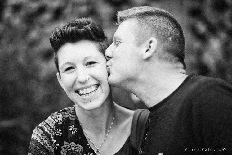 black and white wedding photography kiss