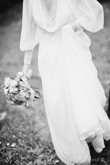 black & white wedding photography fine art posed