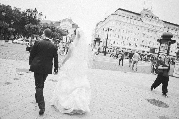 photojournalistic black and white wedding photography - Bratislava