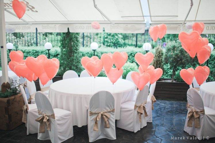 bolloons wedding decoration red hearts