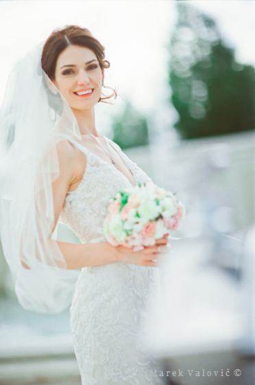 portrait bride -  film wedding photography Fuji Film Pro 400H
