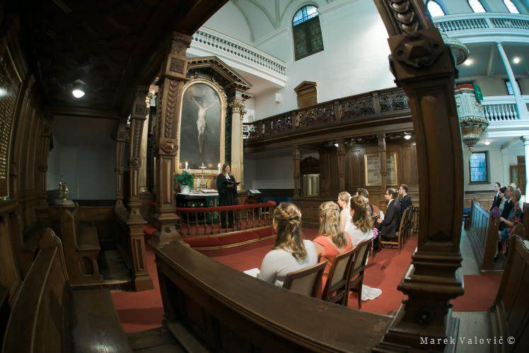 church ceremony - fish eye lens