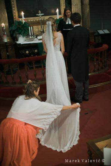 church ceremony - wedding dress