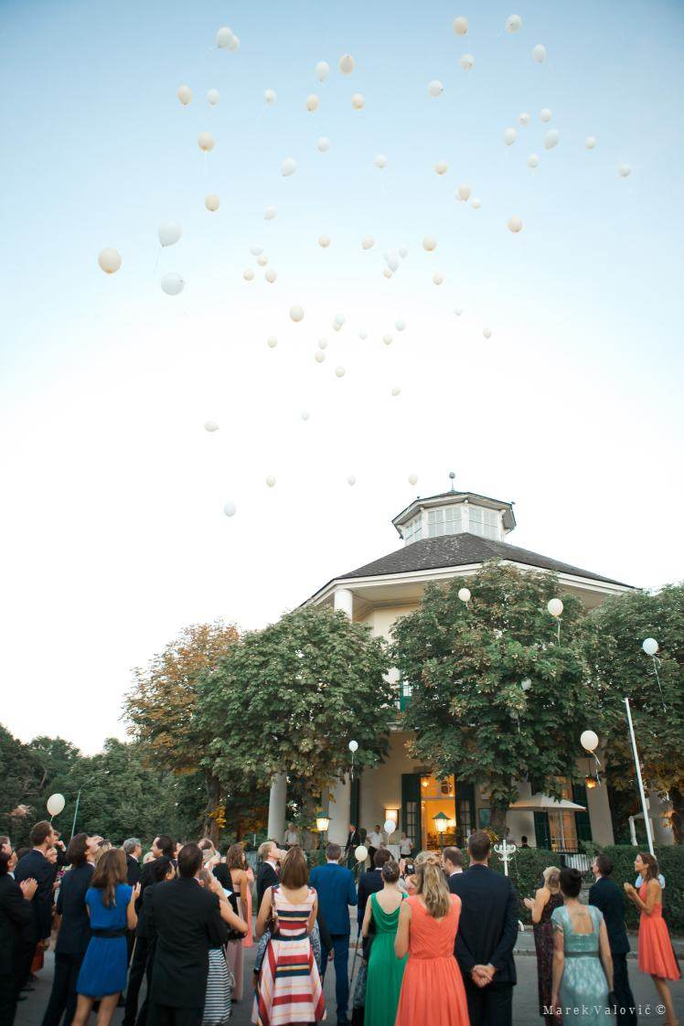 wedding baloons at Lusthaus Vienna