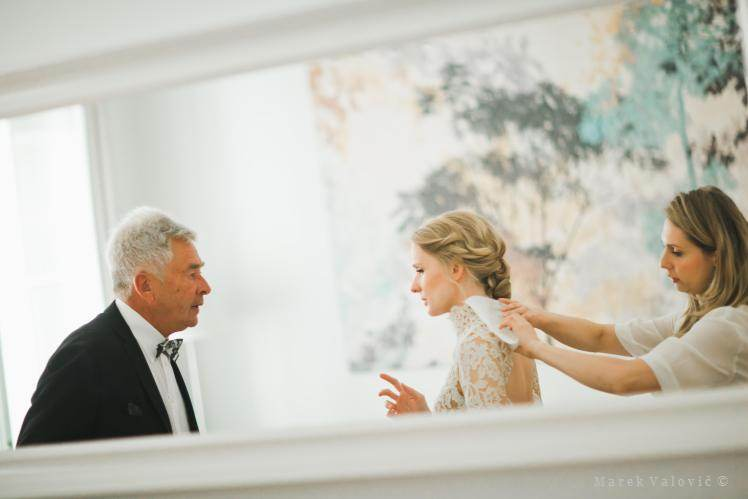 getting ready - bride with father