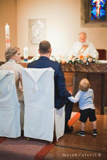 little boy on the wedding ceremony