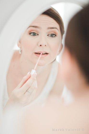 self make up at the wedding - bride