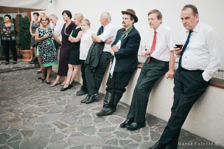 guests waiting on wedding