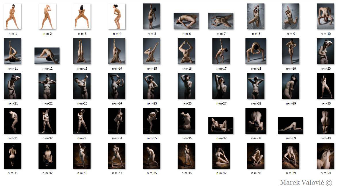 modern poses for artist nude woman figures