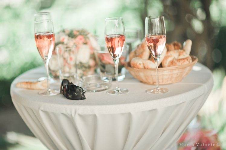 drinks and fingerfood in Austrian wedding