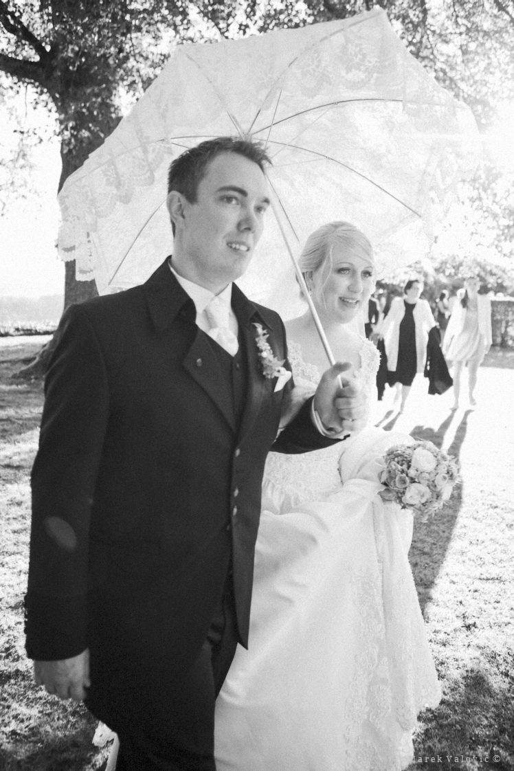 black and white weddingphoto -  the couple