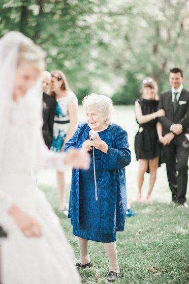 grandma on the wedding