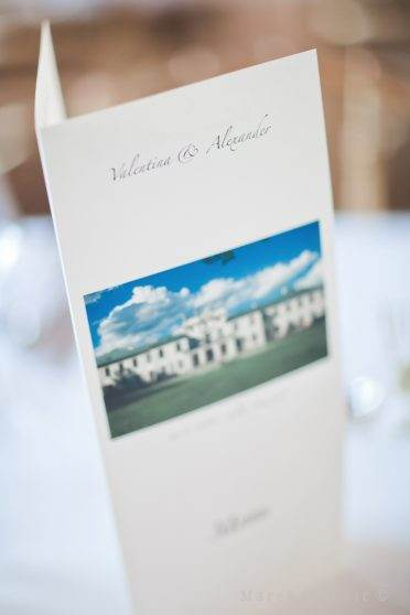 Schloss Hetzendorf - place for wedding in Vienna - menu