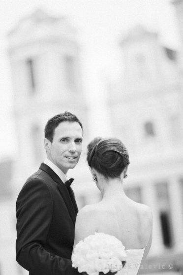 black and white fine art wedding photography