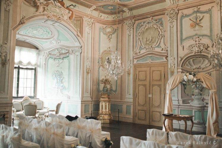 Cesky Krumlov Castle wedding Hall of mirrors