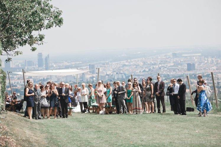 wedding in vineyard in Vienna