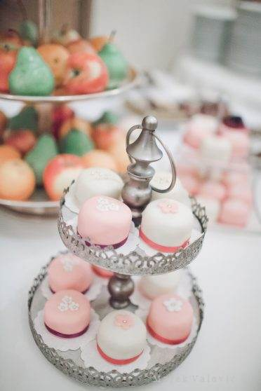 wedding cakes, sweets, savoury