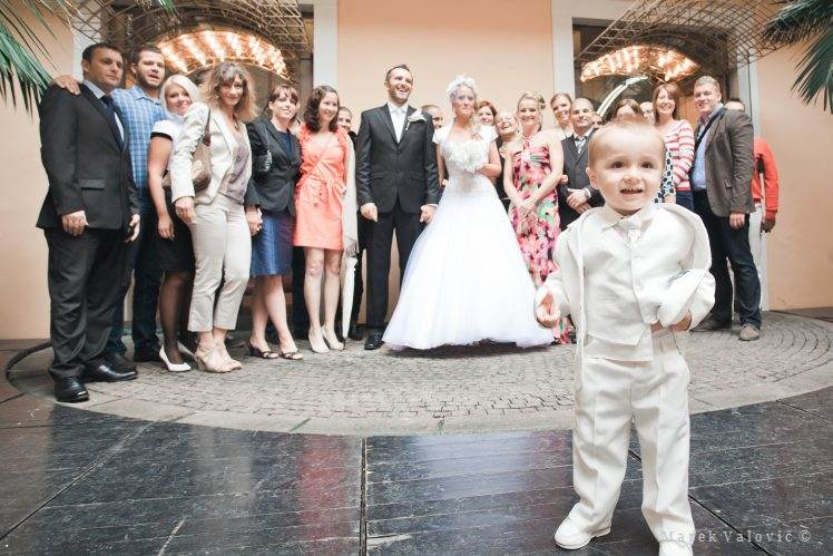 wedding group photo - child