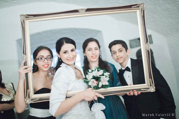 wedding group portrait - frame