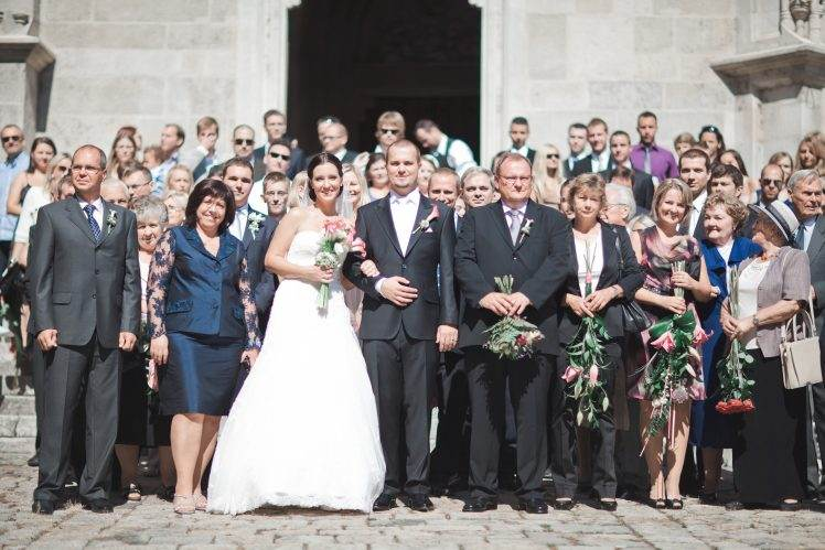 wedding group photo - Chram Svateho Martina Bratislava