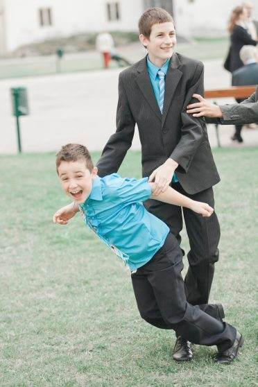 wedding kid being kid