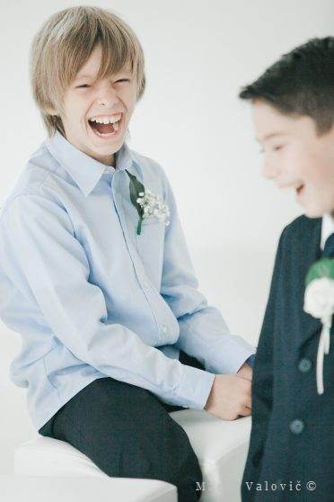wedding kid laughing