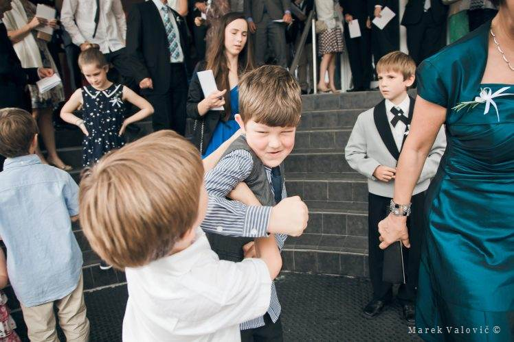 wedding kid being kid - fighter