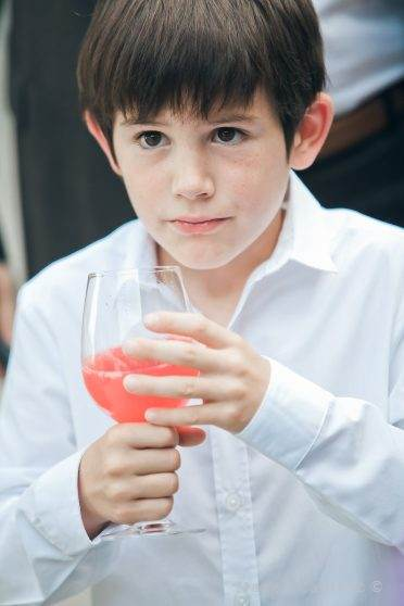 kid and red wedding cocktail