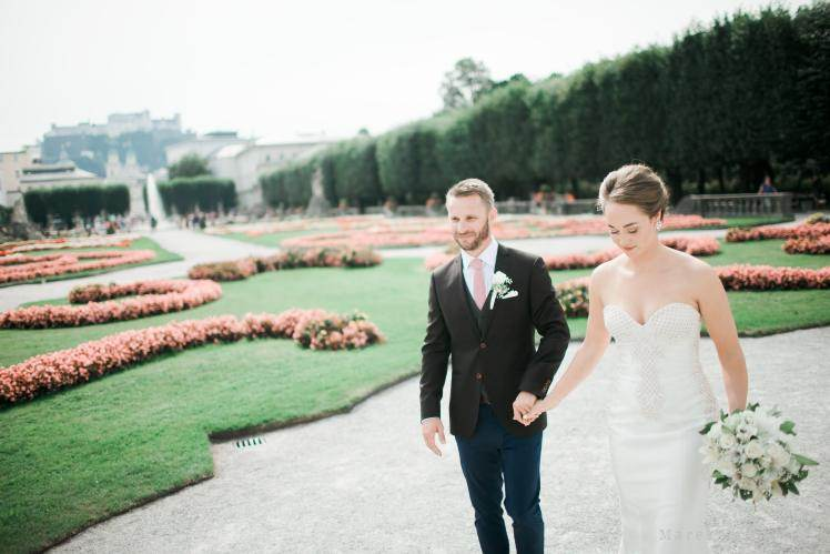 wedding locality in Salzburg Gardens of Mirabel Palace