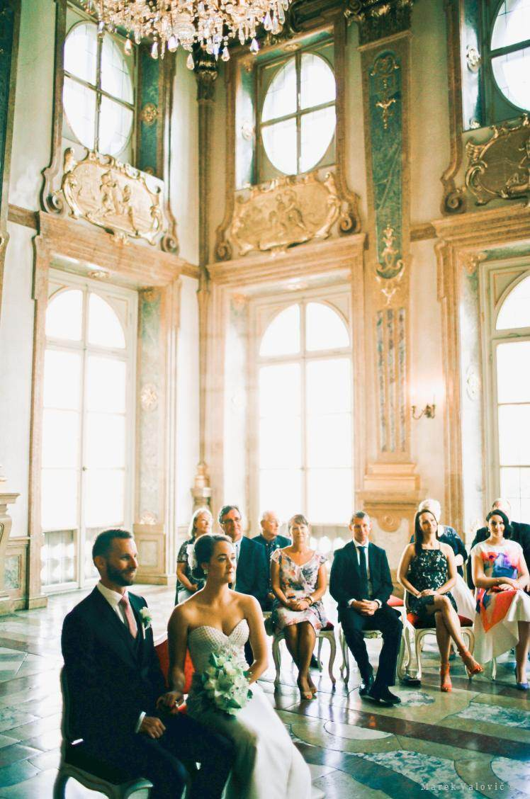wedding at Mirabell Palace Marble hall in Salzburg - Kodak Portra 160 PRO