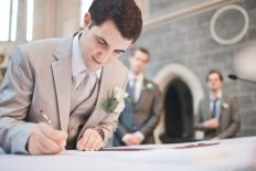 groom signing ceremony