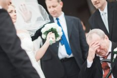 father emotional moment from wedding