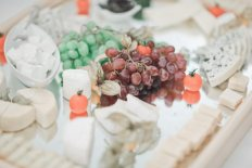 wedding cheese grapes