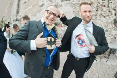 superman wedding fun