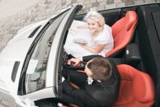 cabrio mercedes wedding car