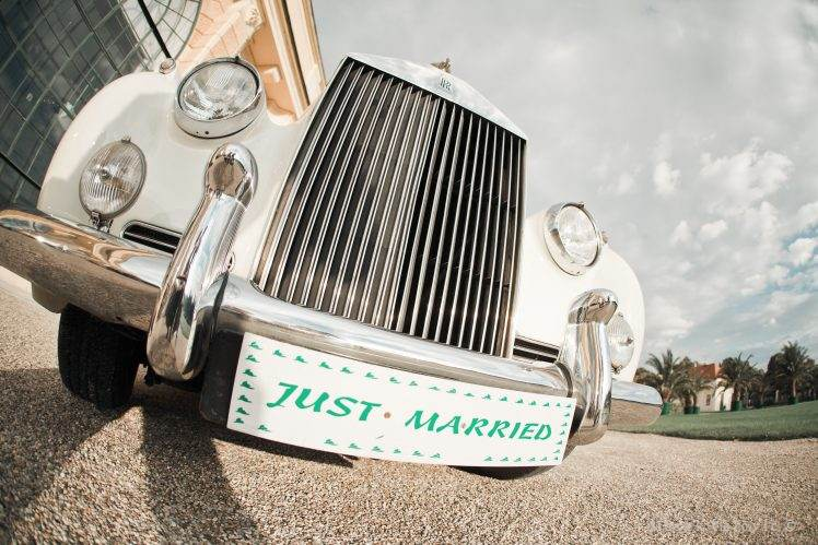 Rolls Royce - Just married plates