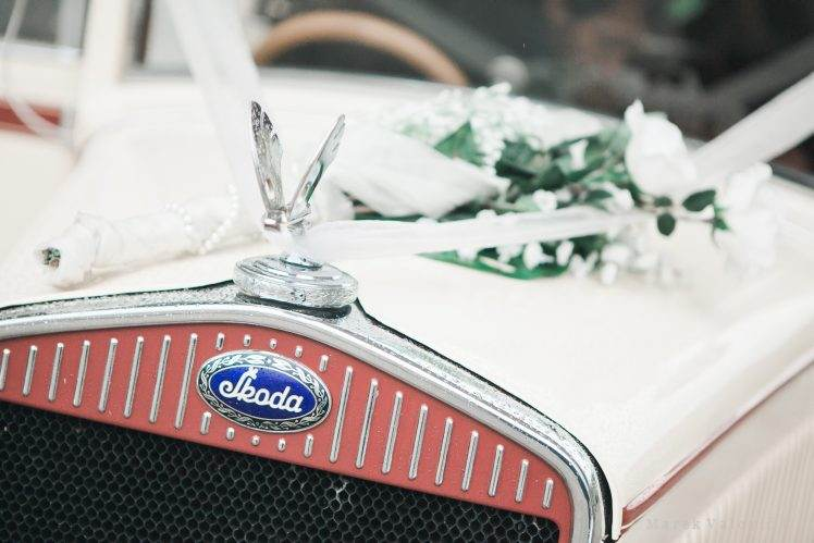 Skoda vintage wedding car