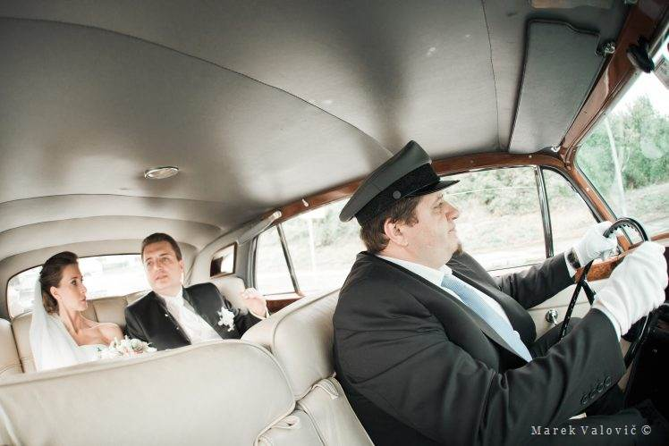 wedding Rolls Royce with chauffeur