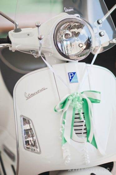 vespa wedding motorcycle